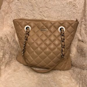 Tan quilted leather Kate Spade tote